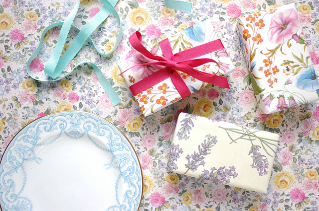floral wrapped soaps