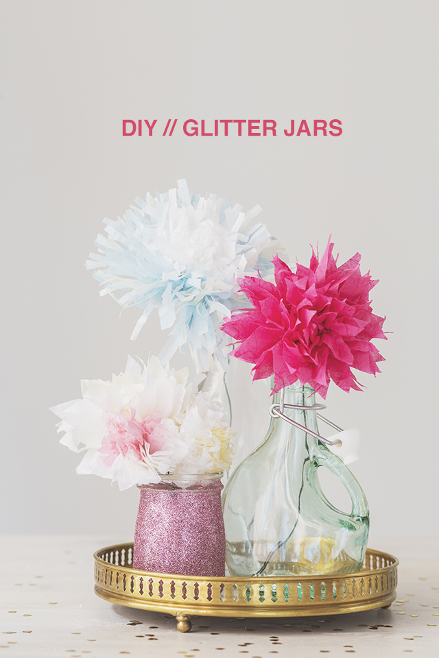 Glitter jars DIY | Bash Magazine Volume 1