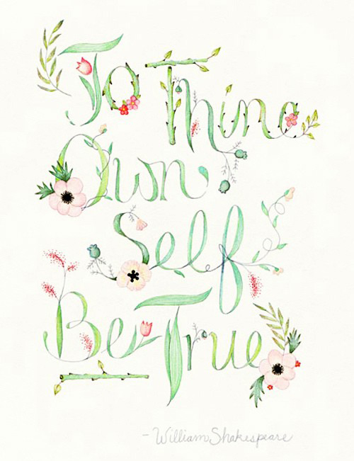 To Thine Own Self Be True | Shakespeare