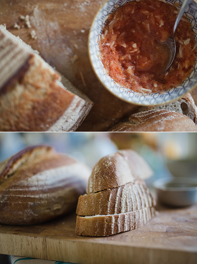Inspired by our travels in Andalucia comes this recipe for pan con tomate, a traditional Spanish breakfast tomato bread that's tasty, healthy, quick and easy.