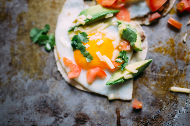 Egg and avocado breakfast tacos | nathalie.ie