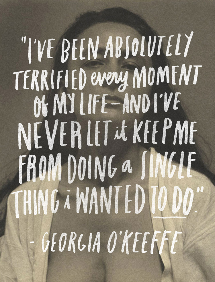 Georgia O'Keefe quote from June Letters