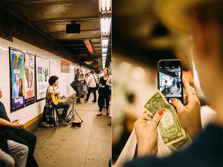 NYC subway busking | nathalie.ie