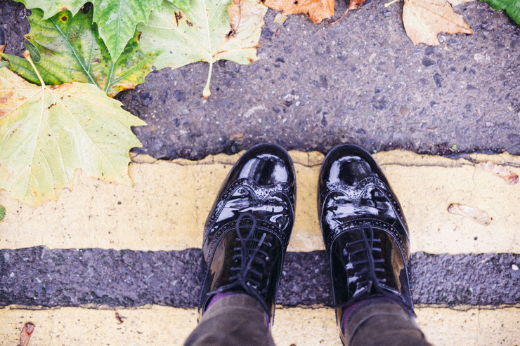 Clarks Hamble Oak black patent leather shoes | nathalie.ie