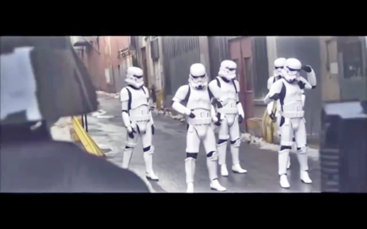 Storm troopers dancing to Single Ladies