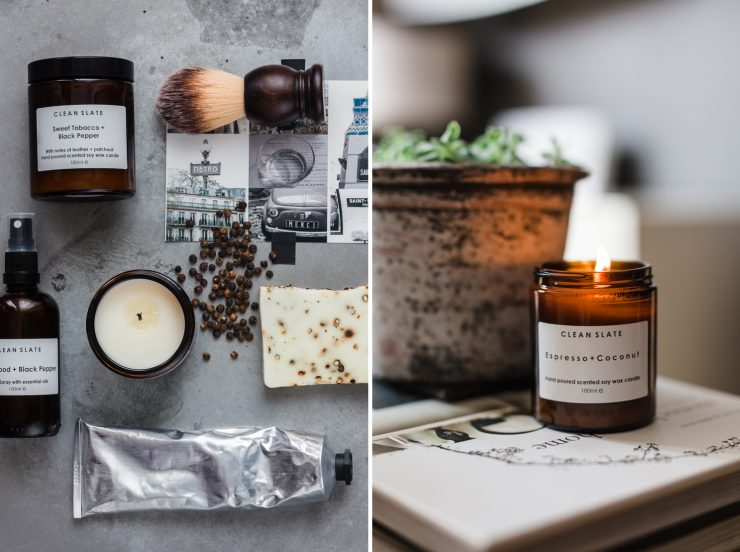 Handmade candles and soaps by Clean Slate | nathalie.ie